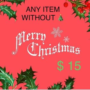 ANY ITEM WITHOUT 🎄 MARKED $15 send me an offer!